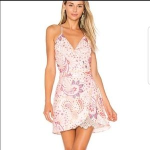 Lovers + Friends Soulmate Paisley Mini Dress Med